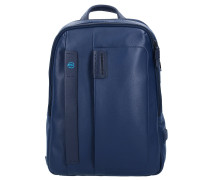 Pulse Rucksack Leder 40 cm Laptopfach midnight blue