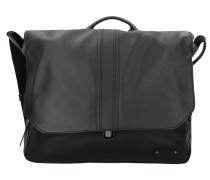 Gordon 1 Messenger Aktentasche Leder 37 cm Laptopfach black
