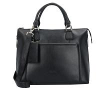 Maggie Handtasche Leder 36 cm schwarz
