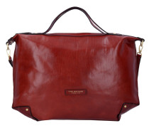 Icons Handtasche Leder 50 cm rosso ribes oro