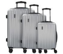 Lima 2.0 4-Rollen Kofferset 3tlg mit Doppelrollen silberfarben