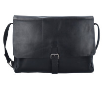 Scott Messenger Tasche Leder 35 cm Laptopfach black