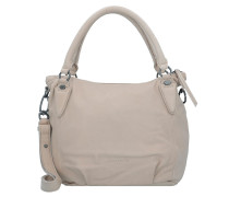 Gina7 Schultertasche Leder 33 cm light powder