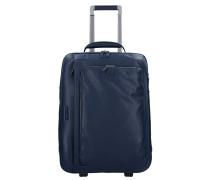 Modus 2-Rollen Business Trolley Leder 52 cm Laptopfach blue