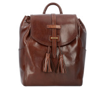 Florentin City Rucksack Leder 31 cm brown gold