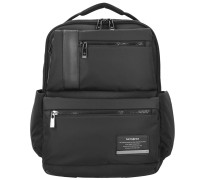Openroad Business Rucksack Leder 42 cm Laptopfach jet black