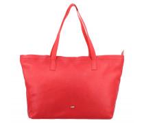 Shopper Tasche Leder 36 cm red