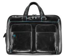 Blue Square Aktentasche Leder 41 cm Laptopfach schwarz