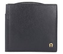 Daily Basis Geldbörse Leder 10 cm schwarz