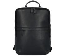 Campo Rucksack Leder 38 cm Laptopfach black
