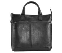 Archimede Shopper Tasche Leder 41 cm schwarz