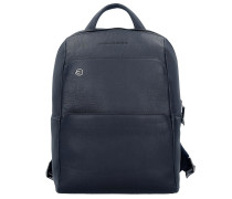 Black Square Rucksack 34 cm Laptopfach blue