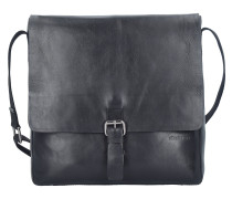Scott Messenger Tasche Leder 30 cm Laptopfach black