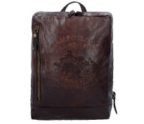 Traditional City Rucksack Leder 35 cm moro