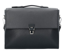 Traveller Messenger Aktentasche Leder 39 cm black