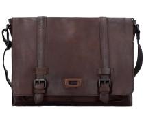 Belt Messenger Bag Tasche Leder 38 cm Laptopfach dark brown