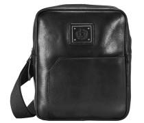 Tocco Umhängetasche Leder 20 cm schwarz