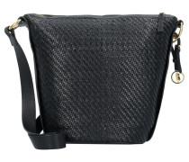 Capri Schultertasche Leder 22 cm nero