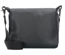 Mellow Umhängetasche Leder 21 cm nero
