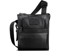 Alpha2 Leather Umhängetasche Leder 20 cm black
