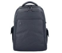Black Square 3444 Rucksack Leder 43 cm Laptopfach blue