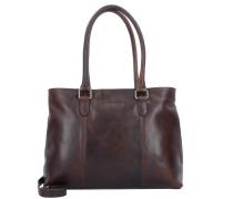 Lucca Shopper Tasche Leder 38 cm braun