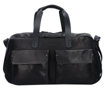 Ivy Lane Reisetasche Leder 53 cm schwarz