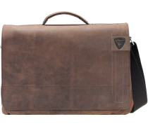 Richmond Messenger Leder 40 cm Laptopfach dark brown