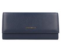 Metallic Soft Geldbörse Leder 19 cm