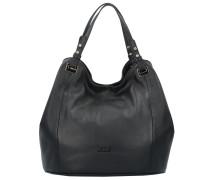 Elisa Handtasche Leder 30 cm schwarz