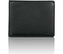 Global Double Billfold Geldbörse RFID Leder 12 cm black textured