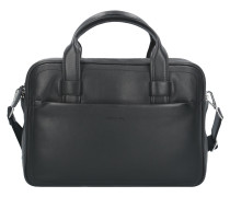 Hudson Chris Aktentasche Leder 37,5 cm Laptopfach black