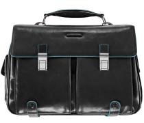 Blue Square Aktentasche Leder 43 cm Laptopfach schwarz