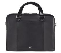 Shyrt-Leather BriefBag MZ2 Aktentasche Leder 39 cm Laptopfach black