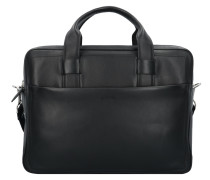 Hudson Colin Aktentasche Leder 43 cm Laptopfach black