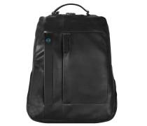 Pulse Business Rucksack I Leder 42 cm Laptopfach schwarz