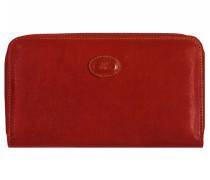 Story Donna Geldbörse Leder 18 cm rosso ribes