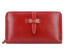 Florentin Geldbörse Leder 19 cm red currant goldfarben