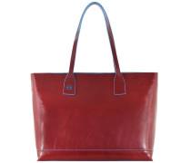Blue Square Shopper Tasche Leder 35 cm rot