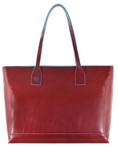 Piquadro Damen Blue Square Shopper Tasche Leder 35 cm rot Zum Verkauf Günstigen Preis Verkauf Sneakernews Rabatte Günstiger Preis Rabatt Authentisch Beliebt Günstig Online q2i6v2