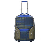 2-Rollen Kabinentrolley 53 cm Laptopfach checkblue