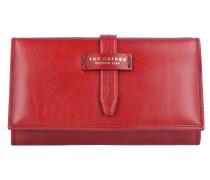 Florentin Geldbörse Leder 17 cm red