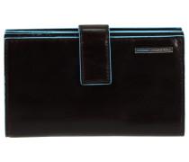 Blue Square Geldbörse I Leder 9,5 cm mahagonibraun