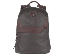 Coleos Rucksack Leder 36 cm Laptopfach dark brown