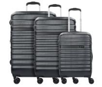 Corium 4-Rollen Kofferset 3tlg. schwarz