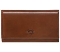 Story Donna Damen-Geldbörse Leder 17 cm marrone