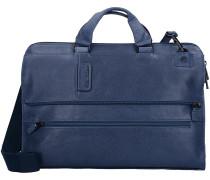 Pulse 4025 Aktentasche Leder 42 cm Laptopfach blue