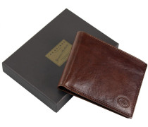 Story Uomo Geldbörse I Leder 12 cm marrone-braun