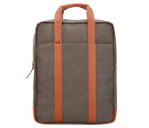 Punch 716 Business Rucksack 40 cm Laptopfach grey cognac