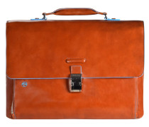 Blue Square Aktentasche II Leder 40 cm Laptopfach orange